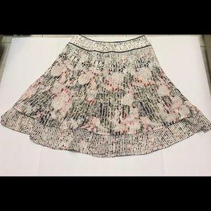 White house black market layered flowy skirt